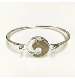 Wave  Bracelet w/ Marco Island Sand SS