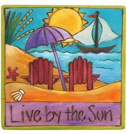 "'Live by the Sun' Art Plaque 7x7"""