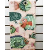 Hello Fish Tea Towel