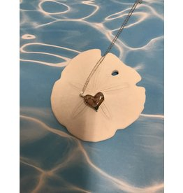 "Tilted Heart Necklace SS 16-20""Adj"