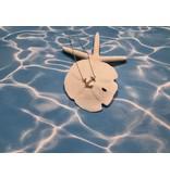 Anchor Tilted Stationary Necklace MI Sand
