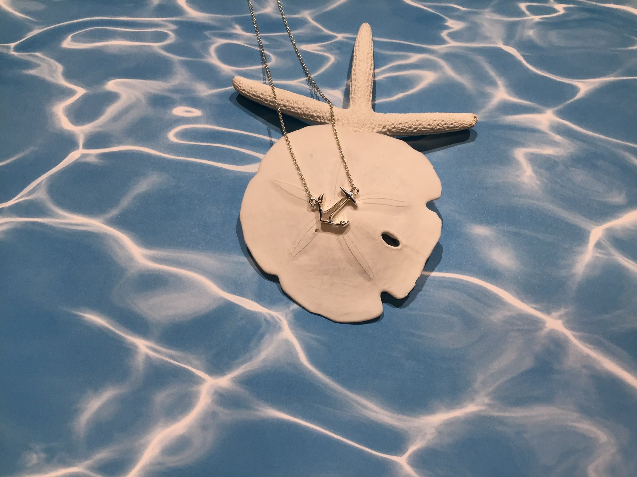Anchor Tilted Stationary Necklace MI Sand