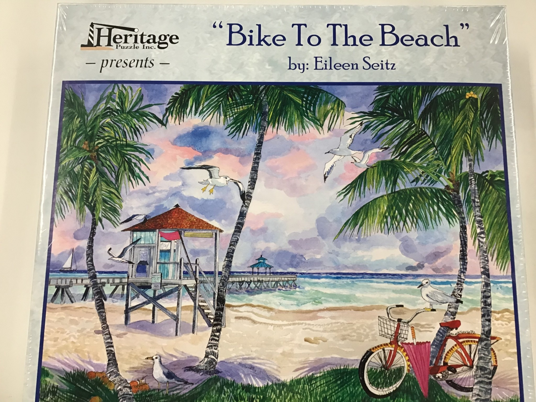 Puzzle By Eileen Seitz Bike To The Beach (550 pc)