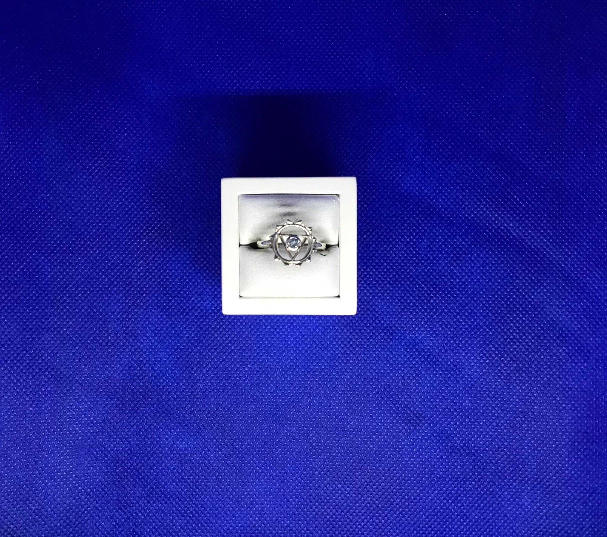 Esprit Creations Blue Topaz Throat Chakra Ring 7
