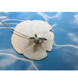 Larimar Sea Turtle Necklace