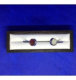 Rope Inlet Cuff Silver MI, Rose