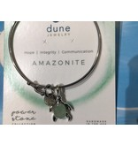 Amazonite  Beach Bangle Sea Turtle Charm