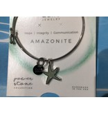Amazonite Delicate Starfish Bangle SP