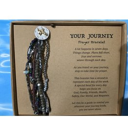 Prayer Bracelet Grey