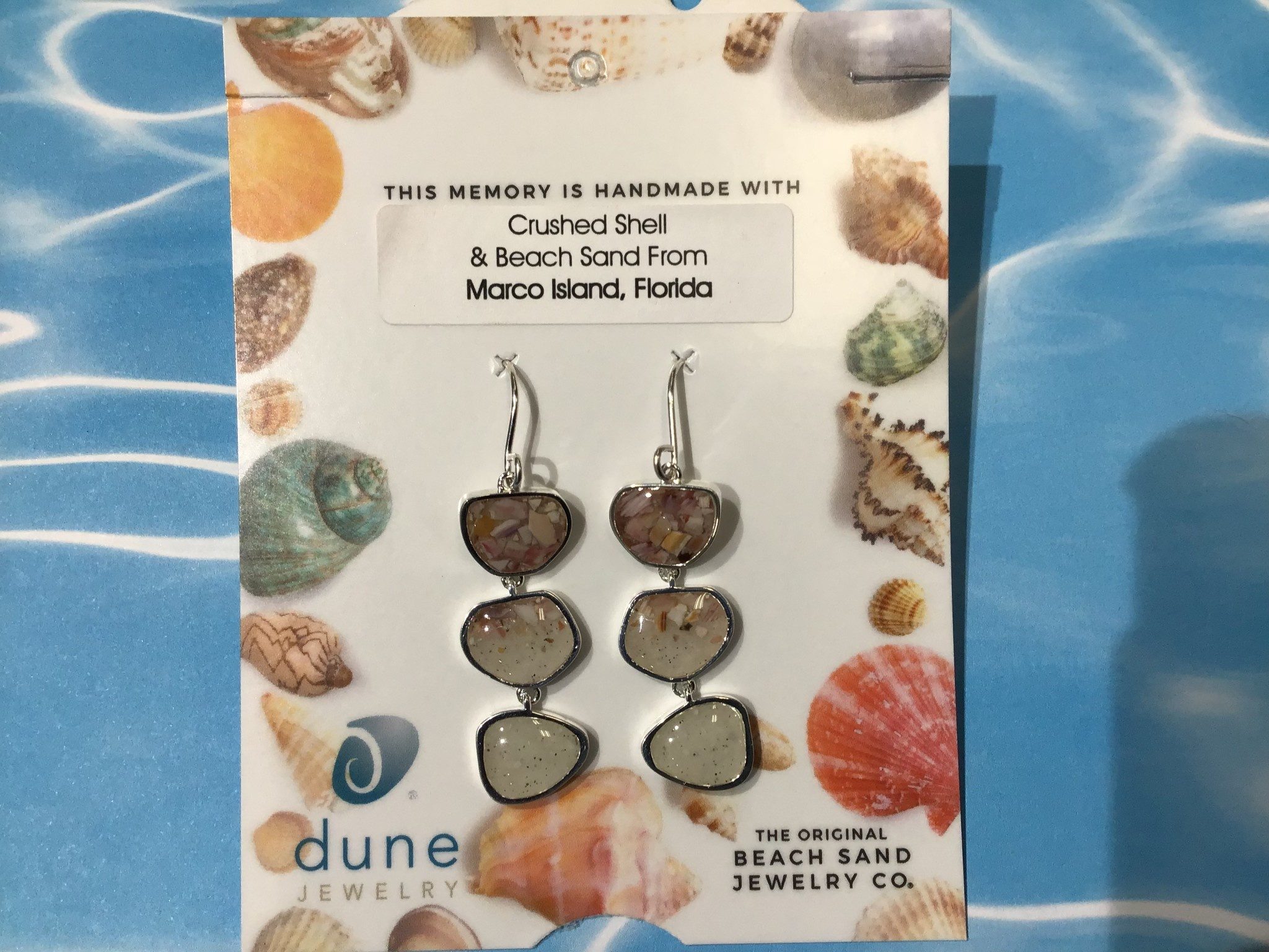 BC Triple Drop Earrings MI Sand & Shells Gradient