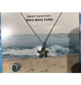 """Sand Jewel Necklace Starfish 16-20"""""""