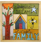 'Cherish Family'Art Plaque 7x7''
