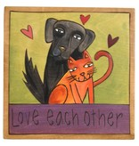 'Love each other' Art Plaque 7x7""