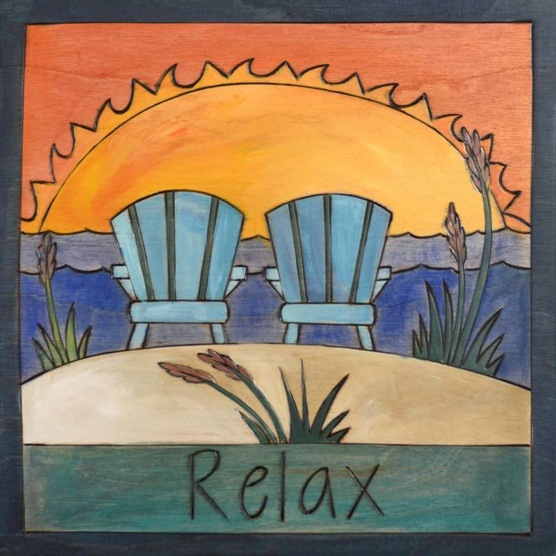 Sincerely Sticks 9x9 Plaque Holly's Chairs  SS