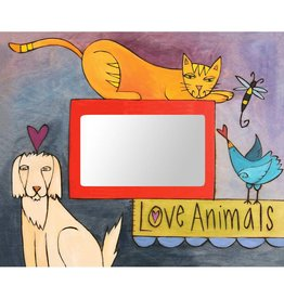Sincerely Sticks 4x6 Frame Dogs & Cats & Birds Oh My  SS