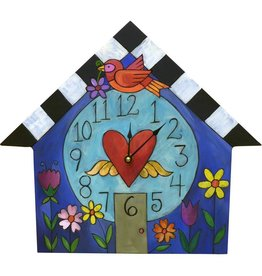 "Sincerely Sticks Clock A Little Birdie Told Me 13-16"" (House) SS"