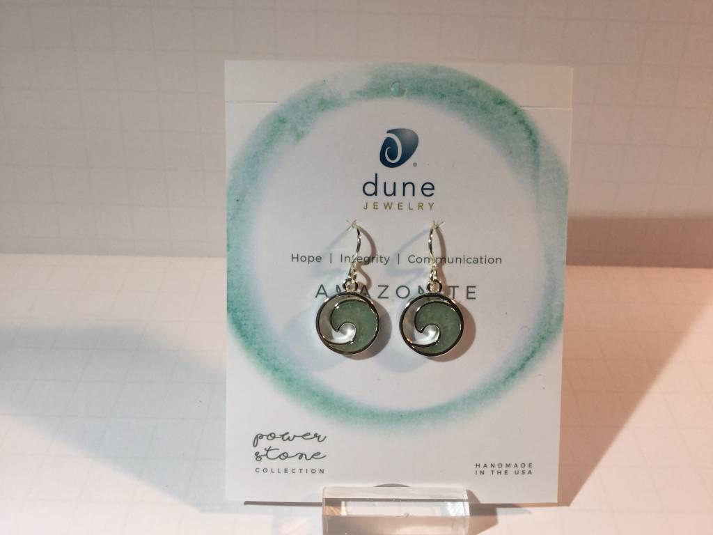 Amazonite Wave Earrings SS