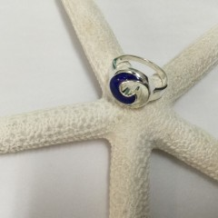 Lapis Wave Ring SS