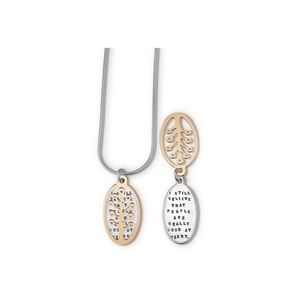 Anne Frank Ltd Rose Gold Necklace