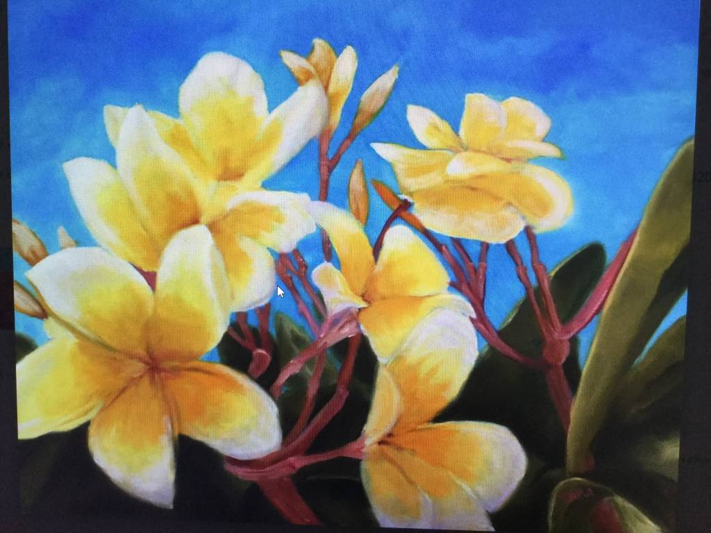Art Block - Frangipani Yellow 5x7""