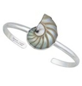 Nautilus Shell Mini Cuff Sterling Silver