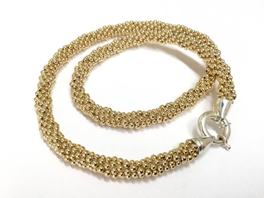 "Gold Rope 16"" Necklace by Dovera (14K Gold Filled)"