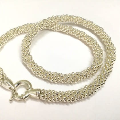 Silver Rope Necklace by Dovera
