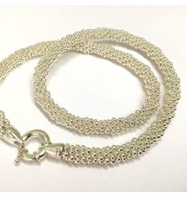 "Silver Rope 18"" Necklace by Dovera"