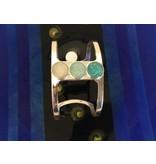 Deco Sandglobe Bracelet w/ Marco Island Sand, Amazonite & Turquoise