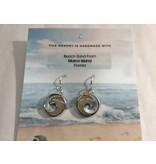 Wave Earrings  Sterling Silver