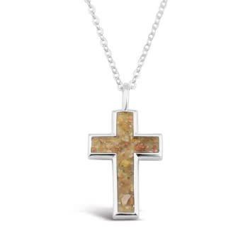 Cross Necklace w/ Marco Island Sand