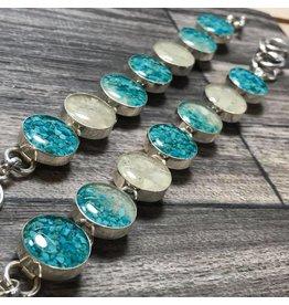 Turquoise Gradient Travelers Bracelet w/ Marco Island  Sand