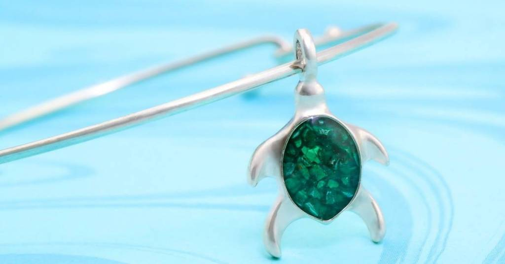 Malachite Beach Bangle Turtle
