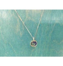 Lapis Wave Necklace SS