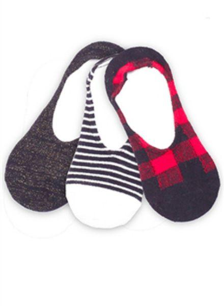 Plush No-Show Fleece Sock Multipack