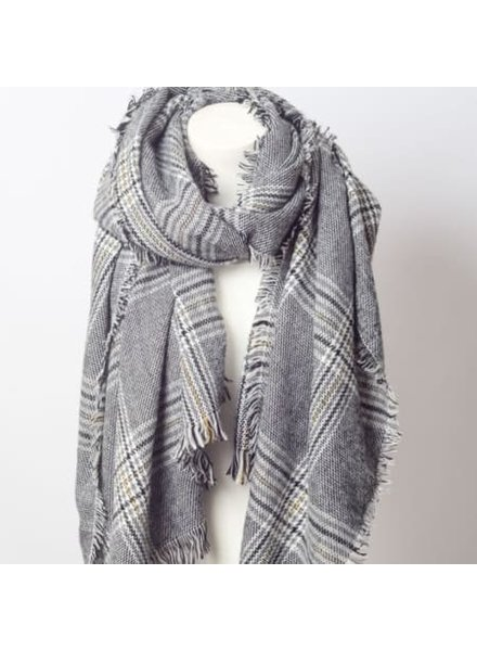 Louisa Ellis Check Print Scarf