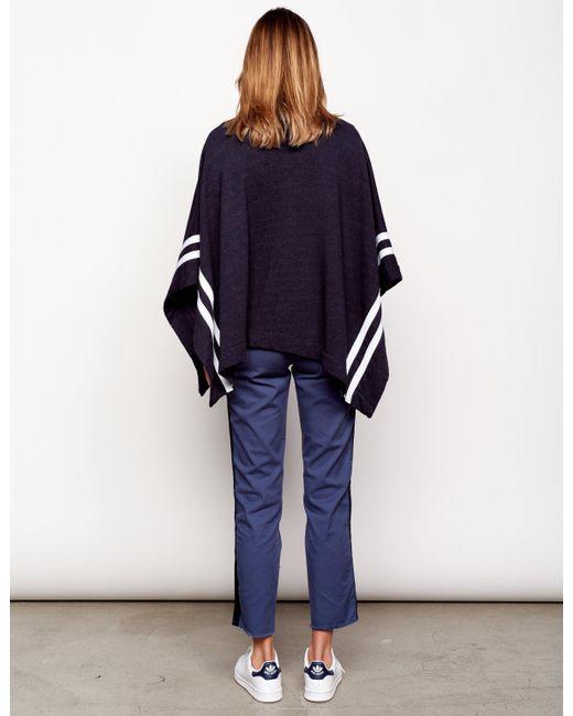 Sundry Poncho with Stripes
