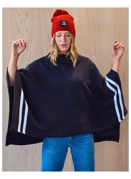 Sundry Poncho with Stripes