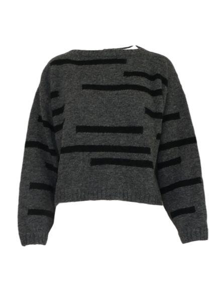 Louisa Ellis Striped Alpaca Sweater