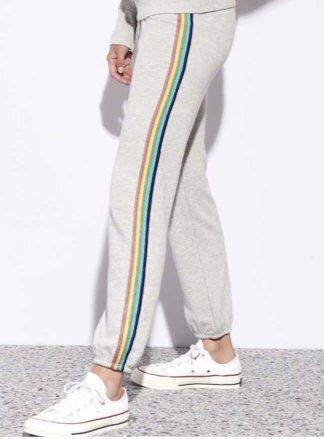 Sundry Rainbow Trim Sweatpants