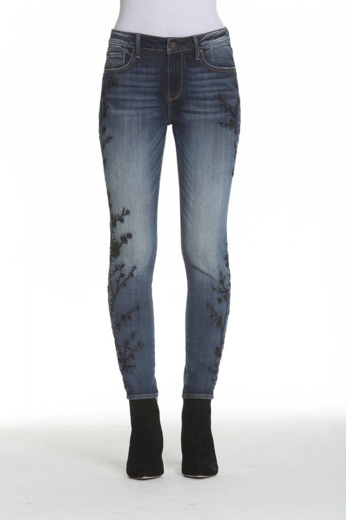 Driftwood Jackie Jeans in Black Vine Embroidery