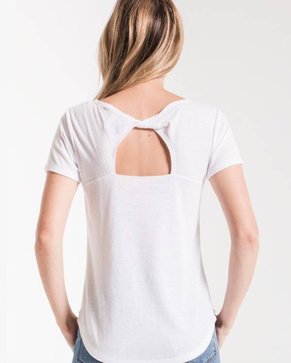 Z Supply The Triblend Twist Back Tee