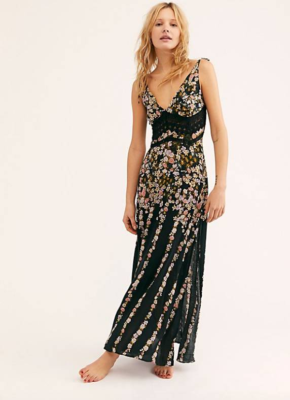 7d096623718e7 Free People Claire Printed Maxi ...