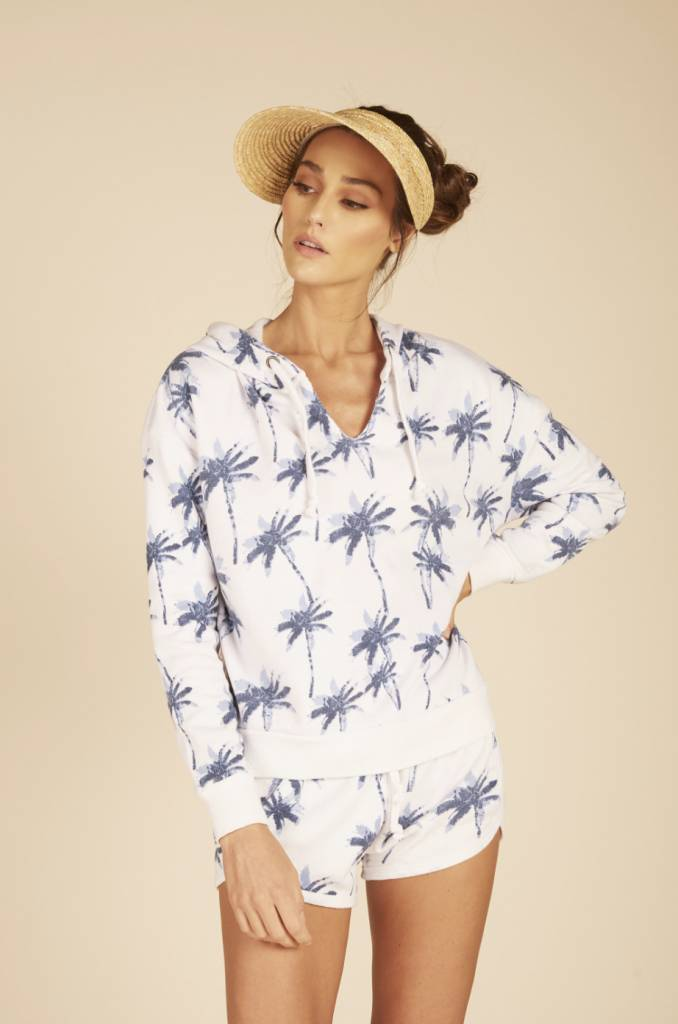Vintage Havana Blue Palm Hoodie
