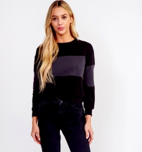 EM & ELLE Color Blocked Sweatshirt