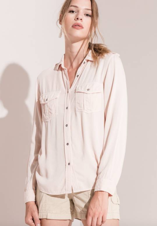 Rag Poets Myra Button-Up Blouse