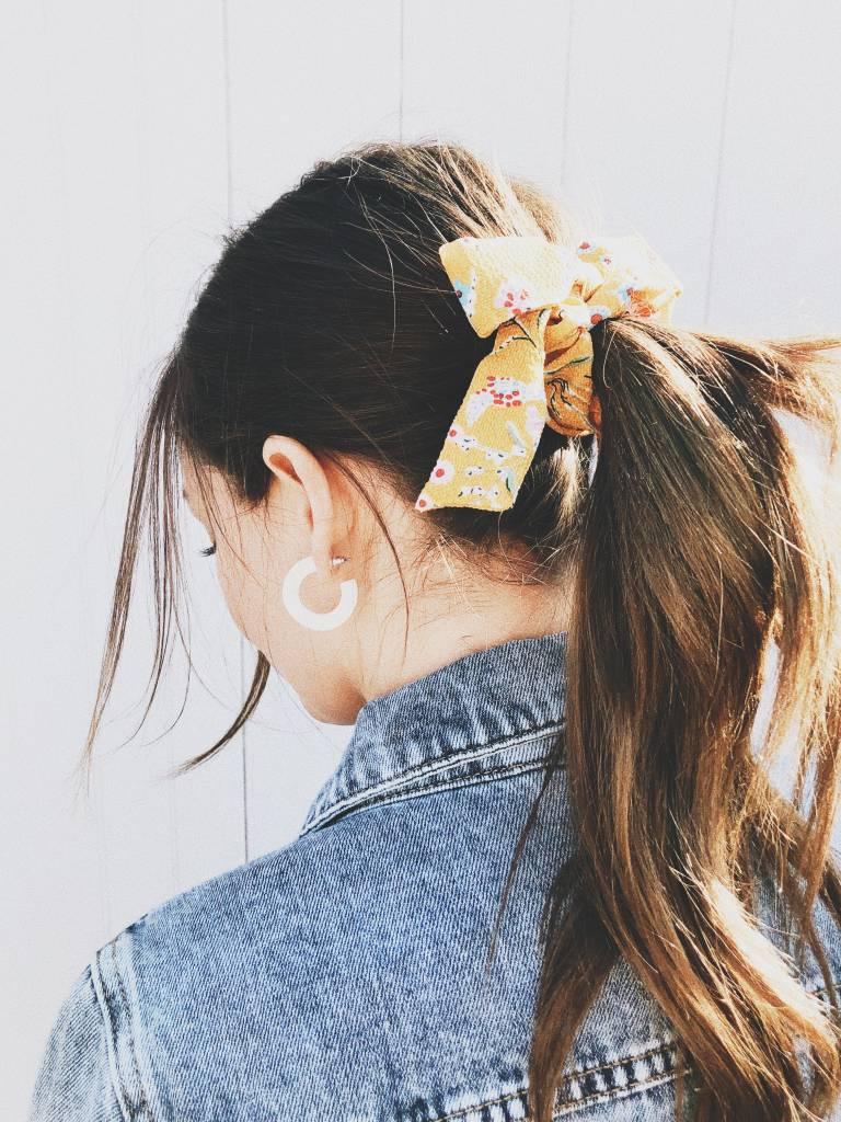 Serendipity Floral Bow Hair Scrunchie