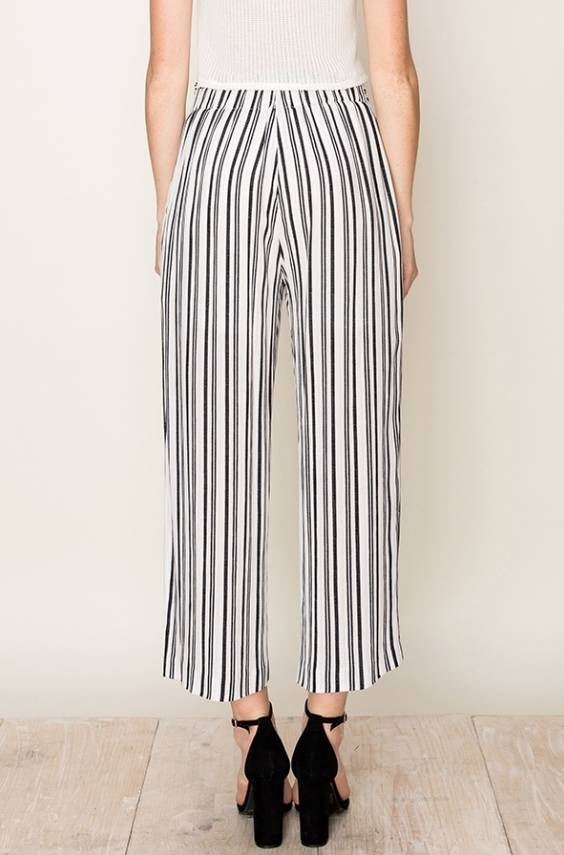 EM & ELLE Fast and Loose Striped Wide Leg