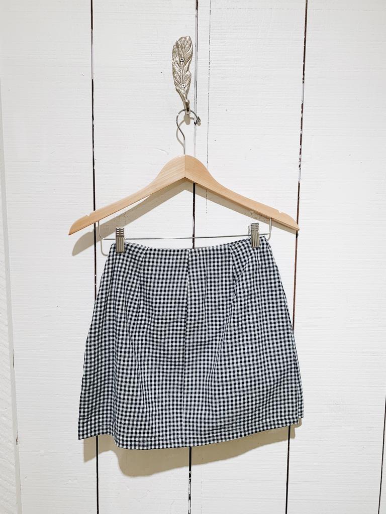 27 August Apparel Gingham Side Tie Mini