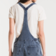 Z Supply The Stripe Knit Denim Short Overall
